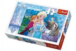 Puzzle Frozen/Ledové království 27x20cm 30 dílků v krabičce 21x14x4cm - Rock David