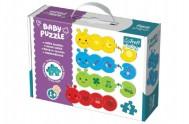 Puzzle baby Barvy 4ks v krabici 27x19x6cm 1+