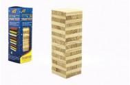 Hra Jenga věž dřevo 48ks hlavolam v krabičce 7x23x7cm