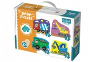 Puzzle baby Stavební Auta 4ks v krabici 27x19x6cm 2+