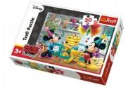 Puzzle Mickey a Minnie slaví narozeniny Disney 27x20cm 30 dílků v krabičce 21x14x4cm