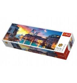 Puzzle Kanál Grande, Benátky panorama 1000 dílků 97x34cm v krabici 40x13x7cm