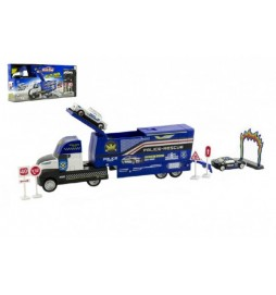 Auto Policie Truck nákladní s doplňky plast 30cm v krabici 42x19x8cm