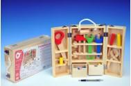 Nářadí dřevo 25ks v dřevěném kufříku 31,5x20,4x7,7cm