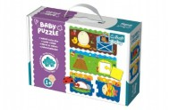 Puzzle baby Tvary 2ks v krabici 27x19x6cm 1+