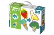 Puzzle baby  Zelenina a ovoce 4 x 2 dílky v krabici 27x19x6cm 1+