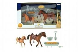 Koně 2 ks s doplňky plast v krabici 40x24x6cm - Rock David
