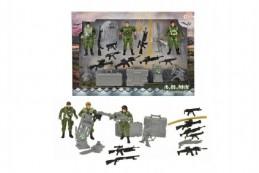 Sada vojenská vojáci s doplňky plast v krabici 35x25x4cm - Rock David
