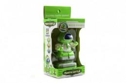 Robot bojovník RC plast 8cm na vysílačku na baterie se světlem v krabičce 9x18x7cm - Rock David