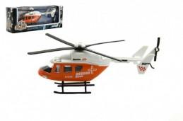 Vrtulník/Helikoptéra kov 15cm v krabičce 18x7x4cm - Rock David