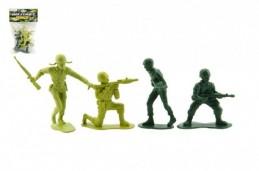 Sada vojáci s doplňky plast v sáčku - Rock David