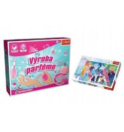 PACK Science for you Výroba parfémů 13 pokusů + Puzzle Frozen 260 dílků v krabici 40x26x13cm
