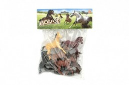 Kůň plast 10cm 8ks v sáčku - Rock David