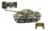 Tank RC plast 25cm na baterie se zvukem se světlem v krabici 34x14x14cm