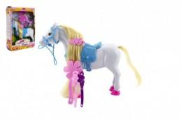 Kůň česací s doplňky plast 16cm v krabici 18x23x6cm - Rock David