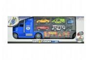 Auto tahač nákladní s auty a doplňky plast 40cm v krabici 40x15x10cm