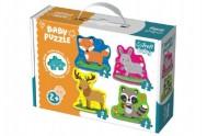 Puzzle baby Zvířátka v lese 4ks v krabici 27x19x6cm 2+