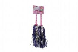Roztleskávačka třásně Pom Pom plast na kartě 15x53cm karneval - Rock David