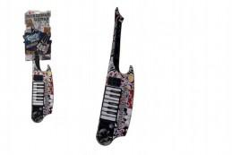 Kytara keyboard dotyková plast 77cm na baterie se zvukem na kartě - Rock David