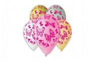 Balonek nafukovací motýl 12'' průměr 30cm 5ks v sáčku