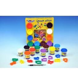 Modelína/Plastelína 10 barev + vykrajovátka v krabici