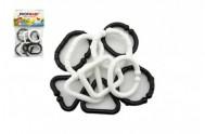Plastové tvary černobílé 10 ks v sáčku