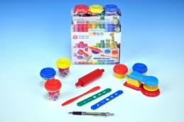 Modelína/Plastelína kreativní sada lis 3ks modelíny+10 doplňků v krabici - Teddies s.r.o