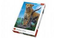 Puzzle Divoký Leopard 500 dílků 34x48cm v krabici 40x27x4,5cm