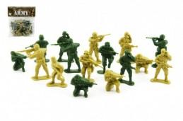 Sada vojáci 2 barvy plast CZ design na kartě 18x19,5cm - Rock David