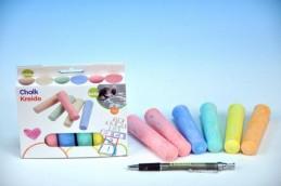Křídy barevné chodníkové 10,5x2,5x2,2cm 6ks v krabičce - Teddies s.r.o