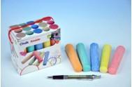 Křídy barevné 10,5x2,5x2,2cm 15ks v krabičce od 24 měsíců