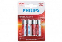 Baterie Philips AA(LR6) 1,5V 4ks na kartě Alkaline - Rock David