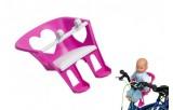 Sedačka pro panenku na kolo plast 20cm v sáčku
