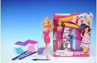 Módní návrhářka kreativní sada + panenka 29cm v krabici