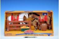 Kůň fliška (2x22cm+1x12cm) s doplňky v krabici