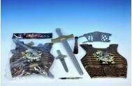 Rytířská sada plast meč 50cm + krunýř + doplňky v sáčku