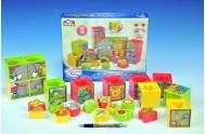 Kostky kubus vkládačka plast 12ks v krabici od 12 měsíců