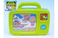 Televize pro nejmenší s obrázky a hodinami plast se zvukem v krabici od 12 měsíců