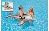 Lehátko delfín s úchyty nafukovací 175x66cm