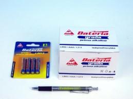 Baterie Grada LR03/AAA 1,5V alkaline 4ks na kartě 12ks v boxu - Teddies s.r.o