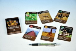 Kvarteto Afrika Safari společenská hra - karty 32 kartiček v krabičce - Teddies s.r.o