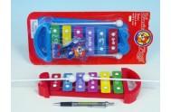 Xylofon 25cm 2 barvy na kartě