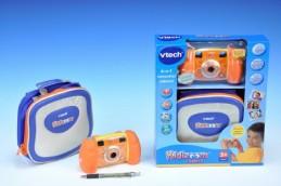 Kidizoom Fotoaparát s pouzdrem VTech oranžový plast 15x8cm na baterie 4xAA v krabičce - Teddies s.r.o