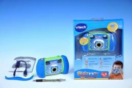 Kidizoom Kid Connect Fotoaparát - modrý Vtech plast 14cm na baterie na kartě - Teddies s.r.o