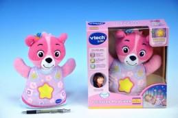 Usínáček Medvídek - růžový Vtech pro nejmenší plyš 22cm na baterie se zvukem se světlem od 0 měsíců - Teddies s.r.o