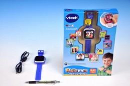 Kidizoom VTech Smart hodinky modré s fotoaparátem a videokamerou a doplňky na baterie v krabici - Teddies s.r.o
