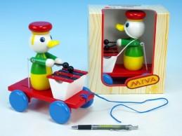 Kačer s xylofonem tahací barevný 20cm v krabičce od 12 měsíců - Rock David