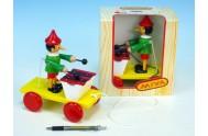 Pinochio s xylofonem tahací dřevo 20cm v krabičce od 12 měsíců