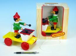 Pinochio s xylofonem tahací dřevo 20cm v krabičce od 12 měsíců - Rock David