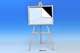 Tabule školní dřevo 88x44cm i pro psaní na fólii v sáčku - Rock David